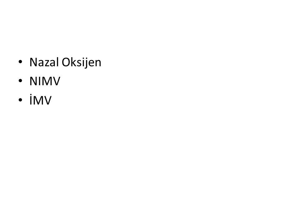 Nazal Oksijen NIMV İMV