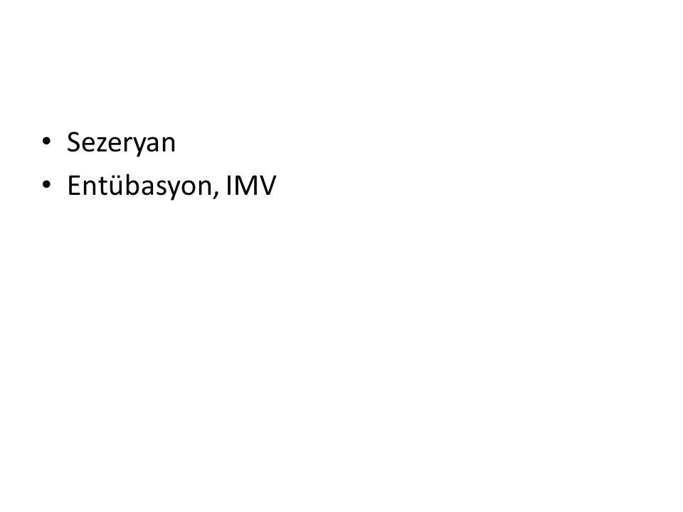 Entübasyon, IMV