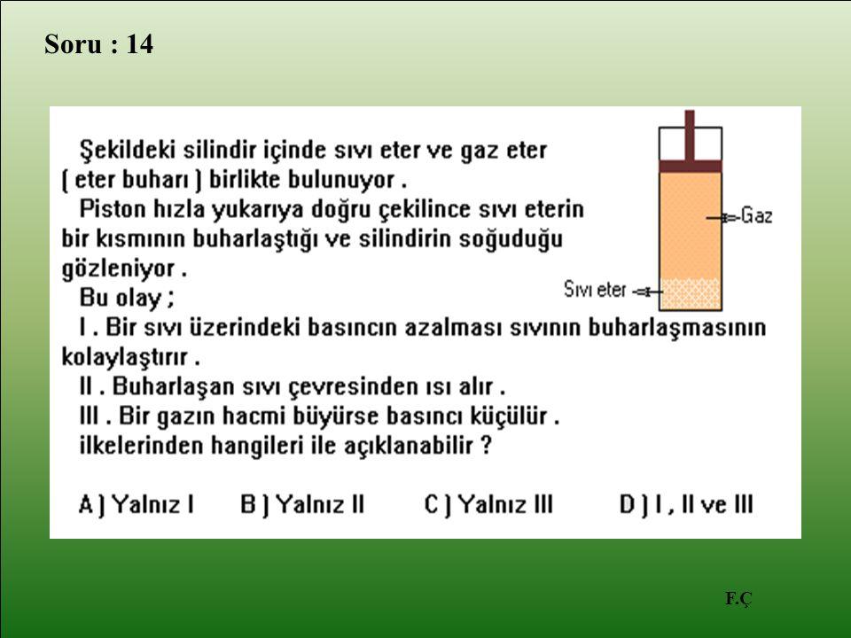 F.Ç Soru : 14