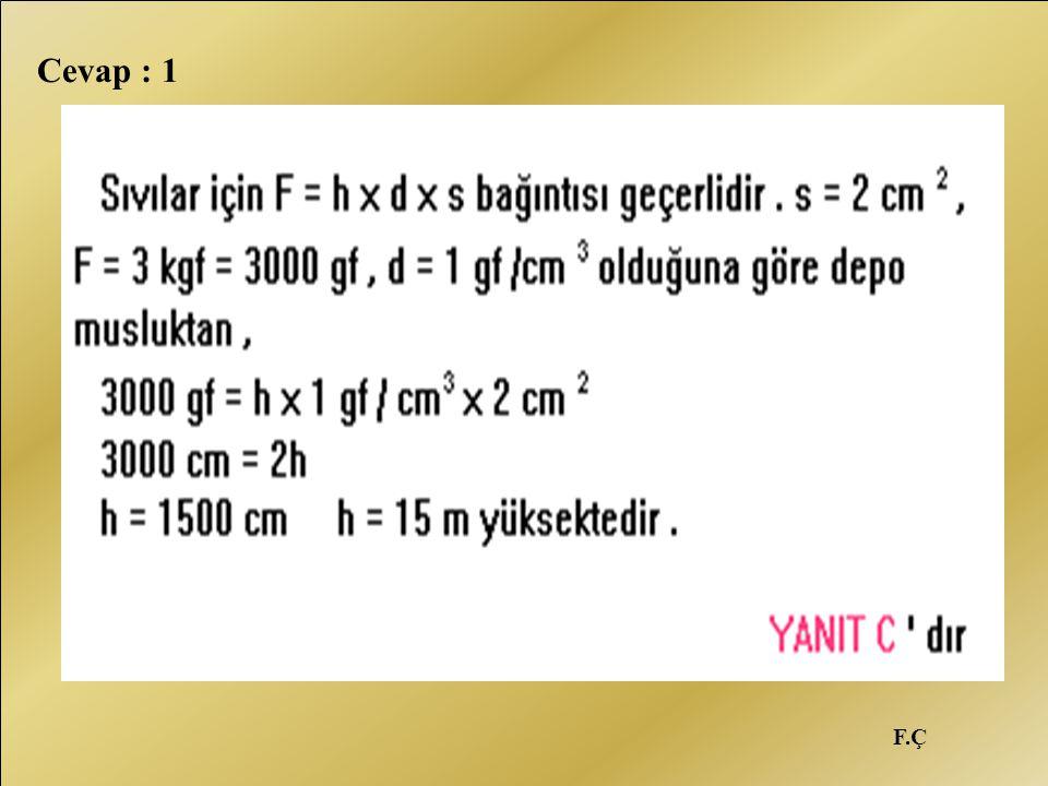 F.Ç Cevap : 1