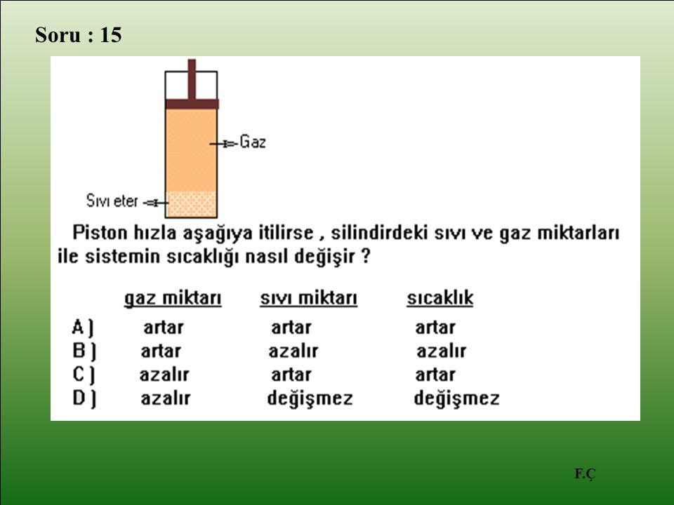 F.Ç Soru : 15