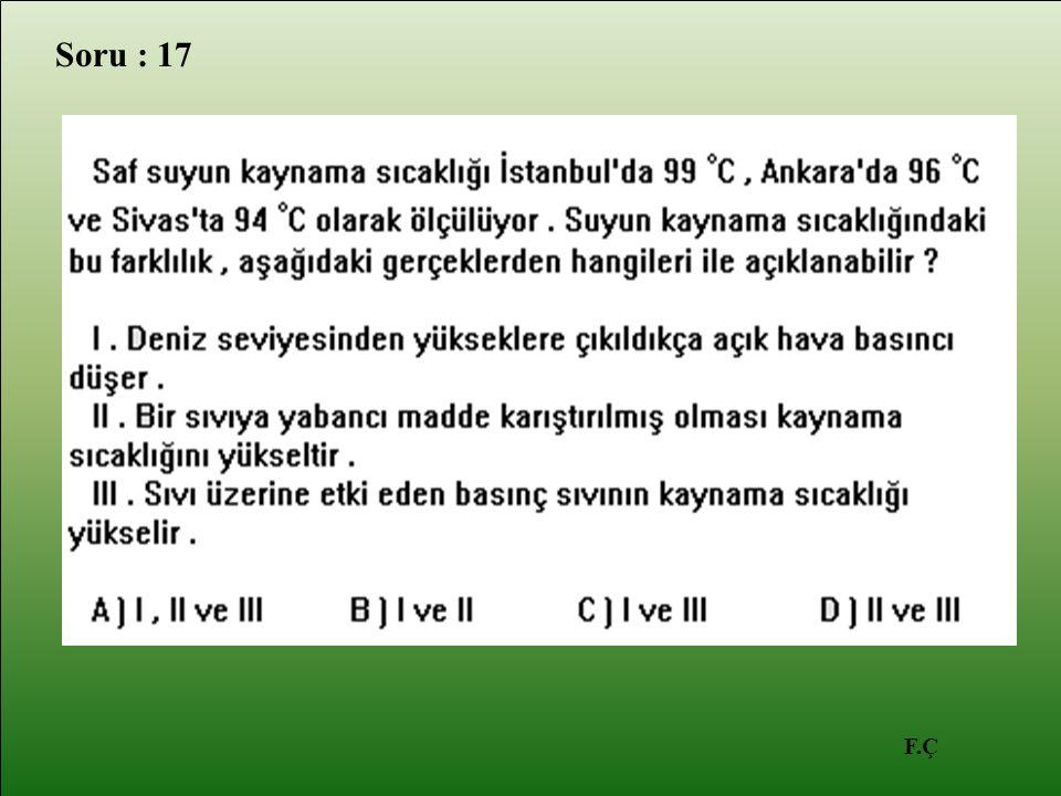 F.Ç Soru : 17