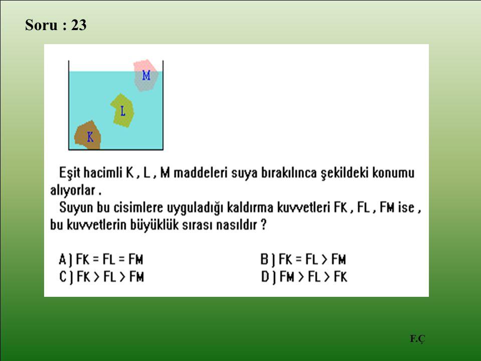 F.Ç Soru : 23