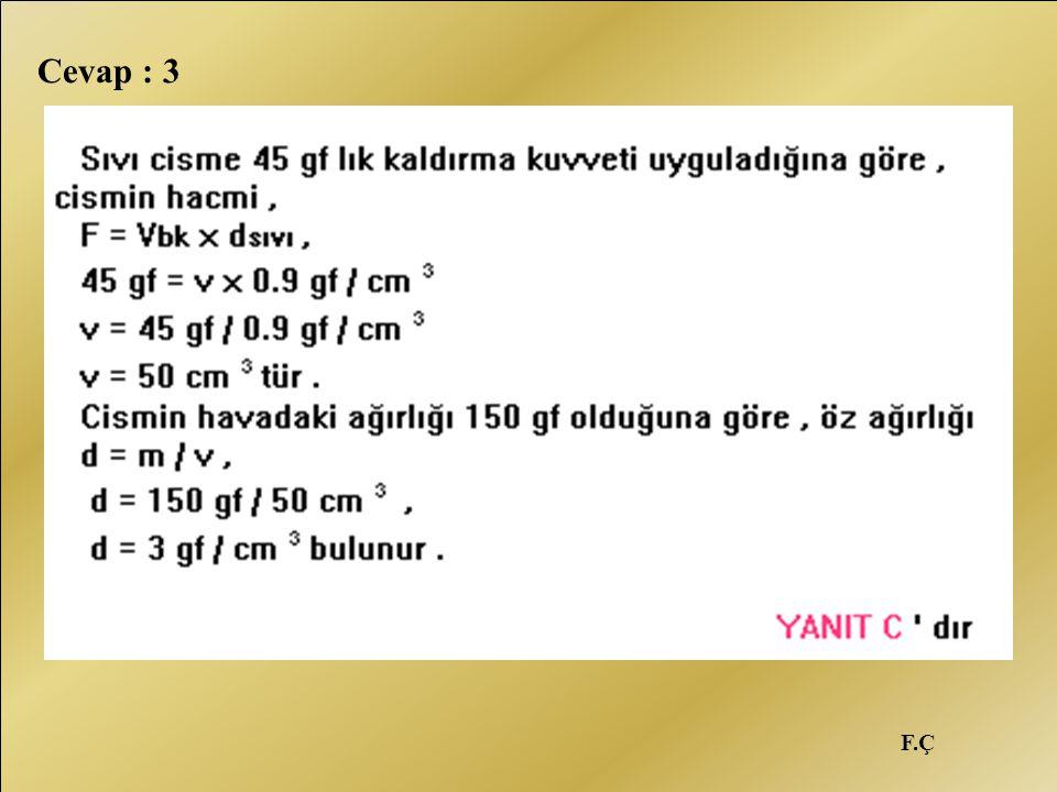 F.Ç Cevap : 3