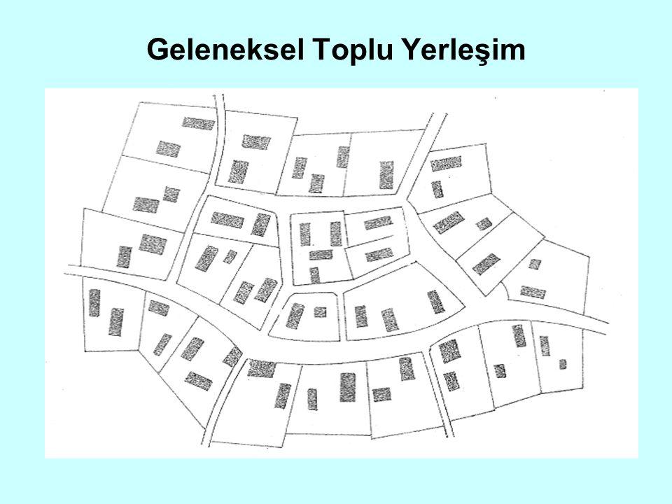 Toplu Kırsal Yerleşim Planlı Toplu Yerleşim: Bu yerleşim biçimi, kırsal yerleşme düzenlenmesine duyulan gereksinmeler sonucu doğmuştur.