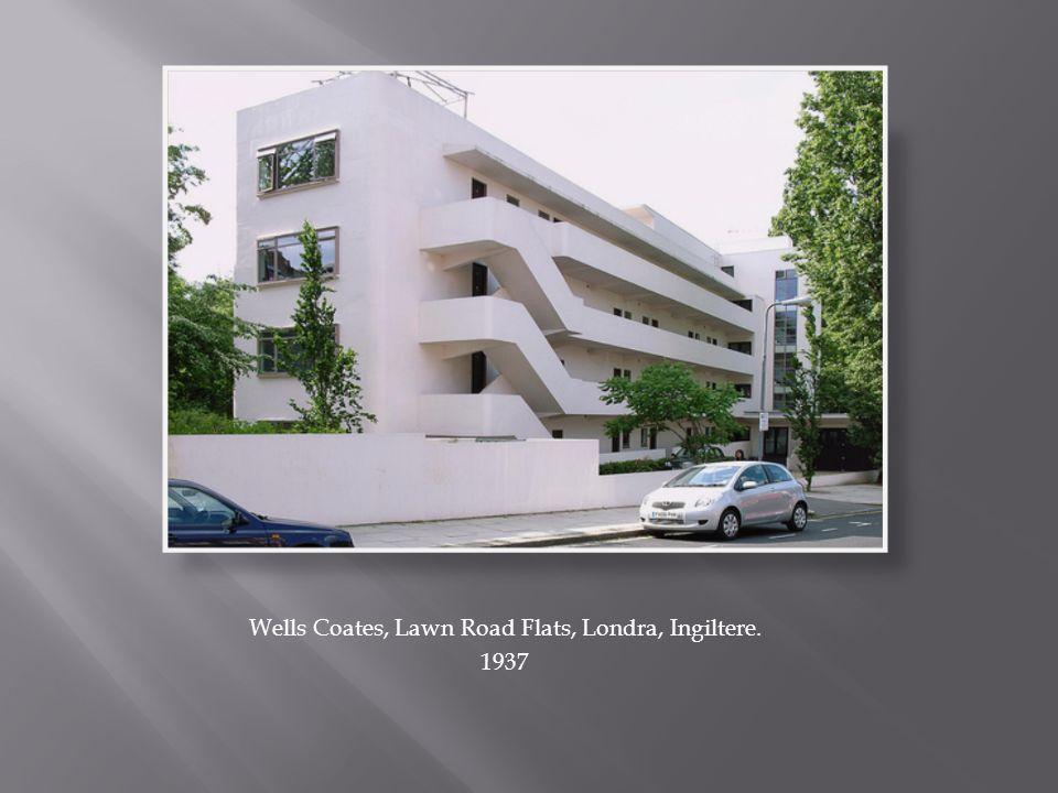 Wells Coates, Lawn Road Flats, Londra, Ingiltere. 1937