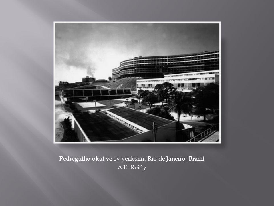 Pedregulho okul ve ev yerleşim, Rio de Janeiro, Brazil A.E. Reidy