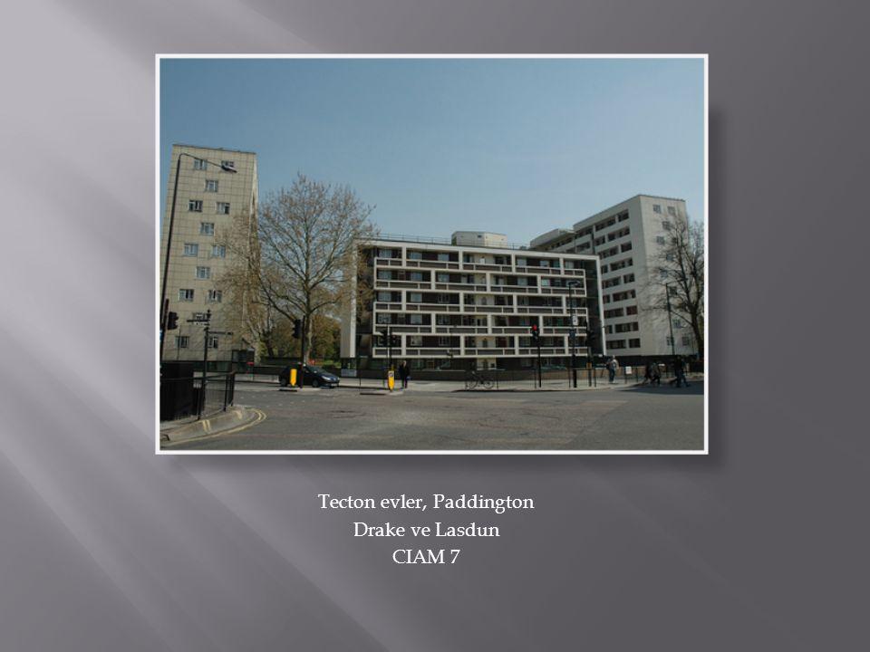 Tecton evler, Paddington Drake ve Lasdun CIAM 7