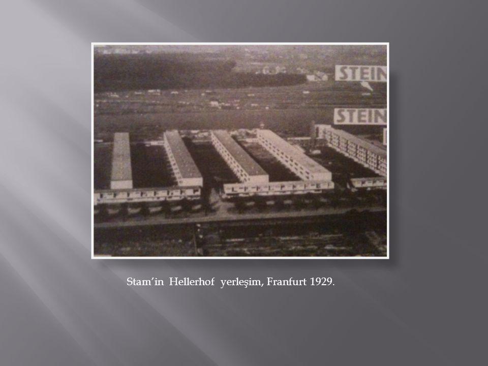 Walter Gropius'un apartment modeli Çelik konstruksiyonlu. 1928