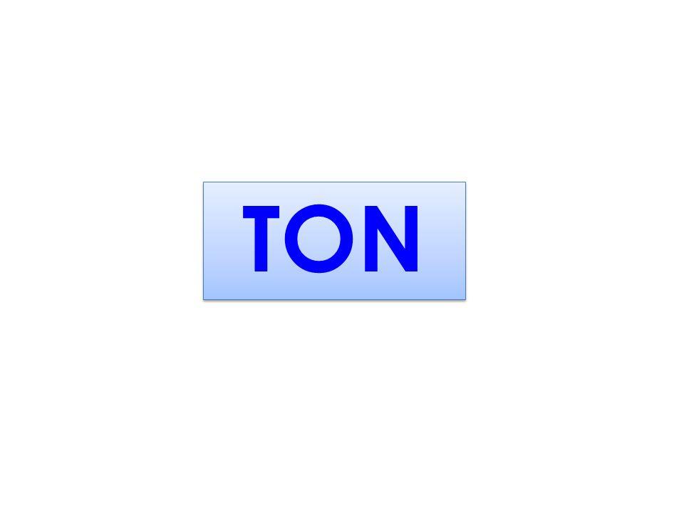 Kütle Ölçüleri TON TON