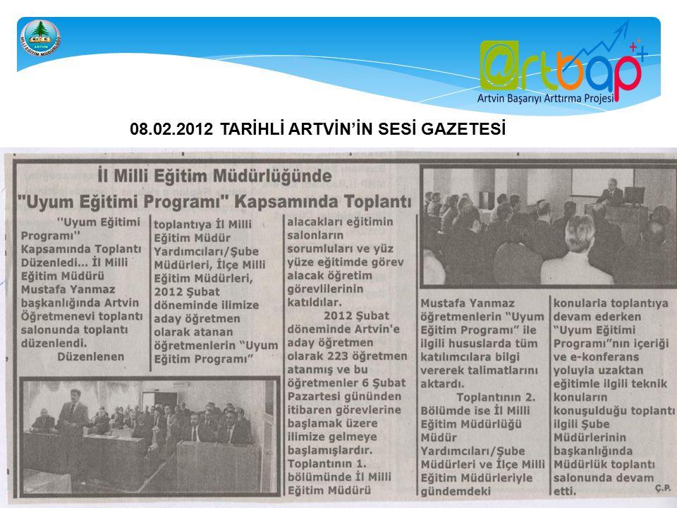 16.02.2012 TARİHLİ 08 HABER GAZETESİ