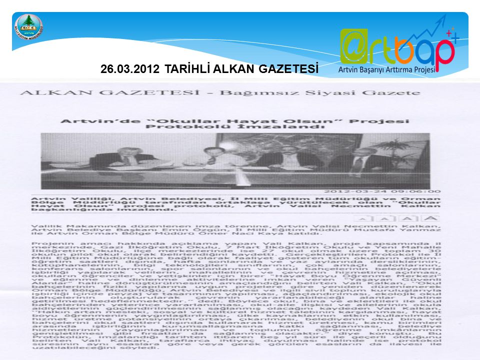 26.03.2012 TARİHLİ ALKAN GAZETESİ