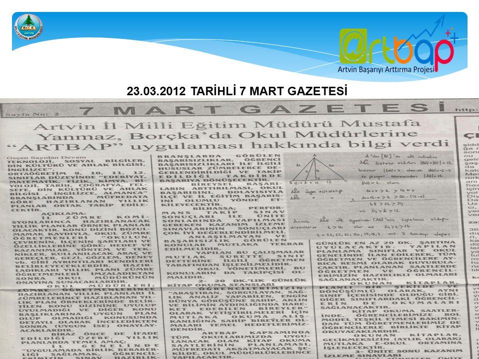 23.03.2012 TARİHLİ 7 MART GAZETESİ
