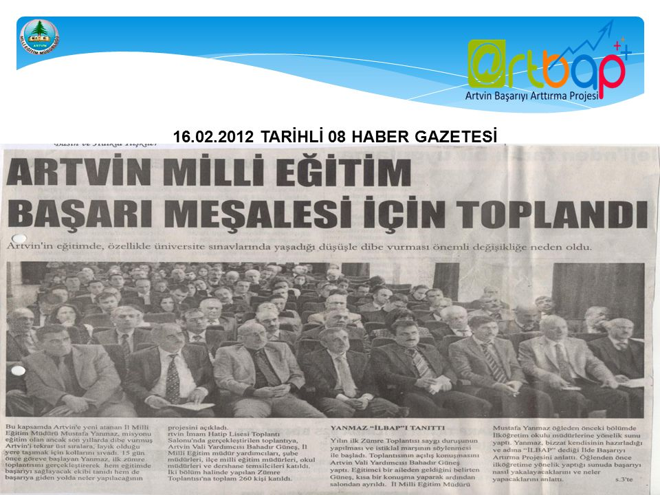 15.03.2012 TARİHLİ ARTVİN'İN SESİ GAZETESİ