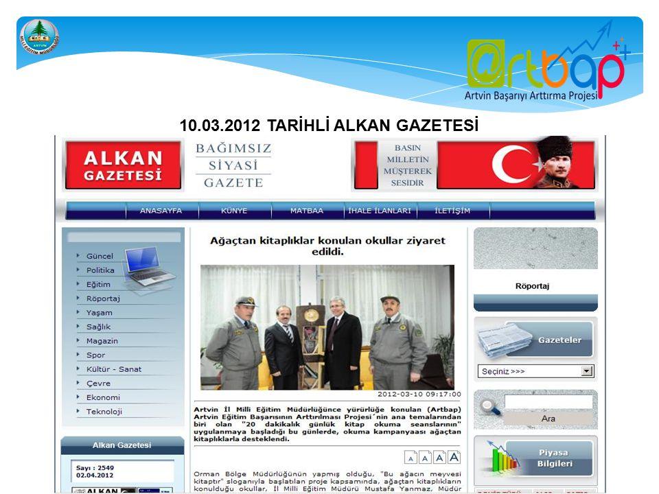 10.03.2012 TARİHLİ ALKAN GAZETESİ