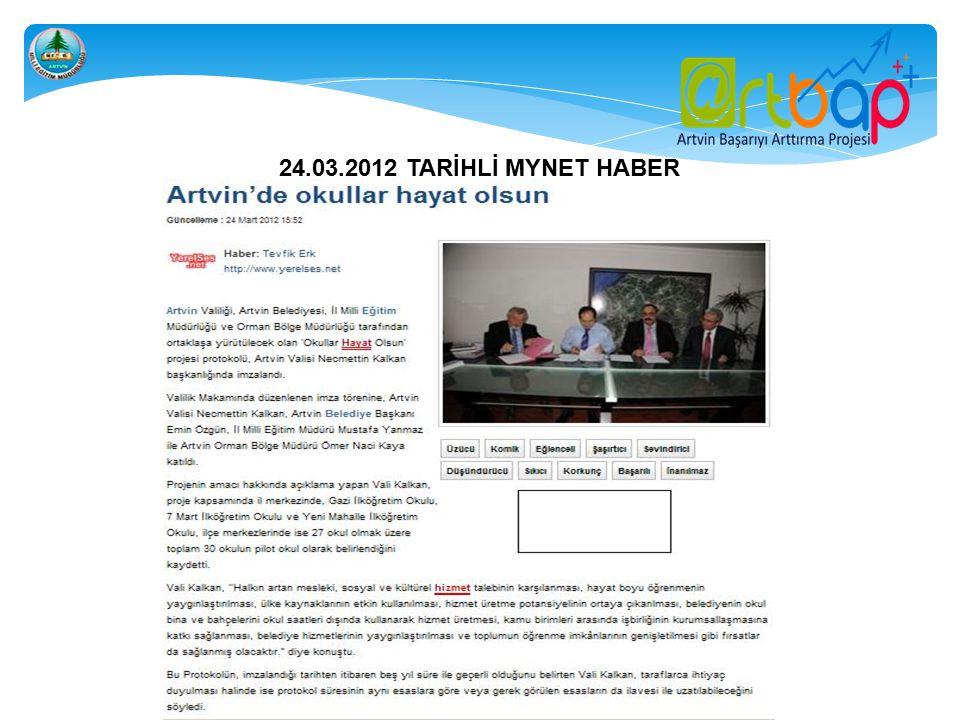 24.03.2012 TARİHLİ MYNET HABER