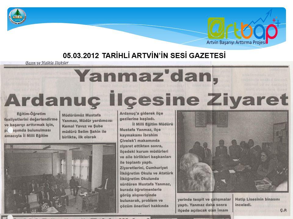 15.03.2012 TARİHLİ 7 MART GAZETESİ