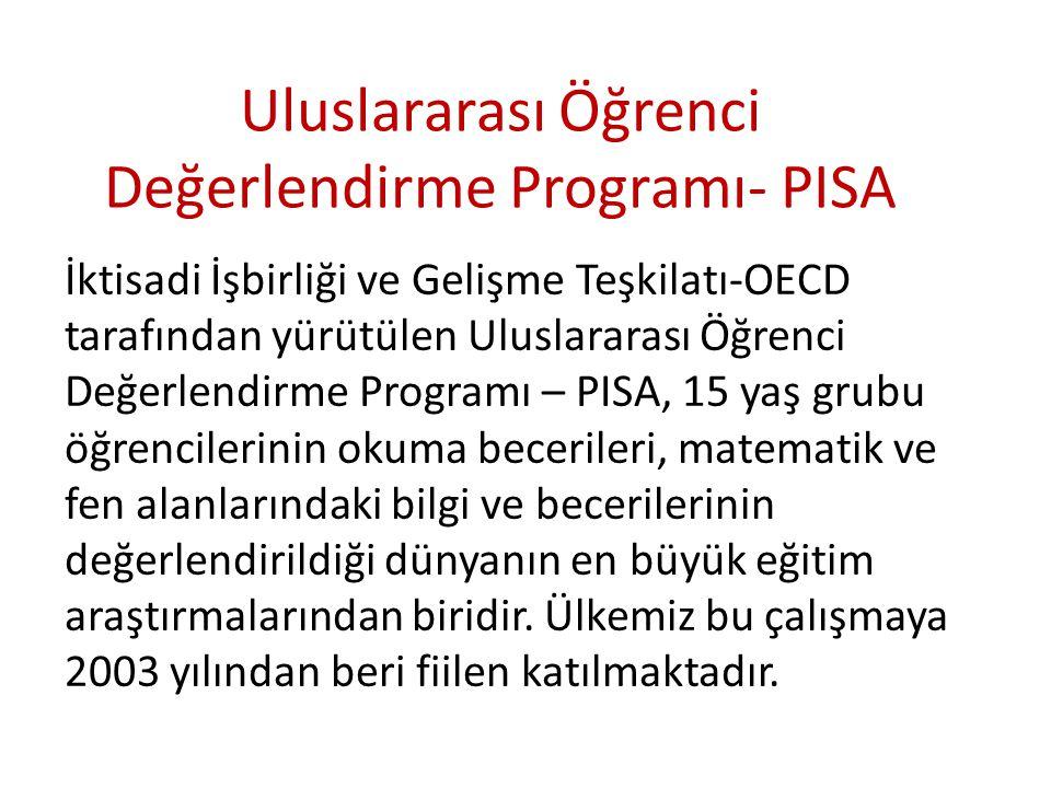 Uluslararası Öğrenci Değerlendirme Programı- PISA İktisadi İşbirliği ve Gelişme Teşkilatı-OECD tarafından yürütülen Uluslararası Öğrenci Değerlendirme