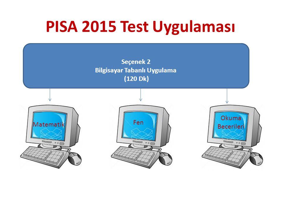 Seçenek 2 Bilgisayar Tabanlı Uygulama (120 Dk) Fen Okuma Becerileri PISA 2015 Test Uygulaması Matematik