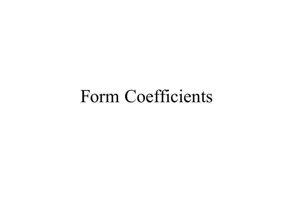 Form Coefficients