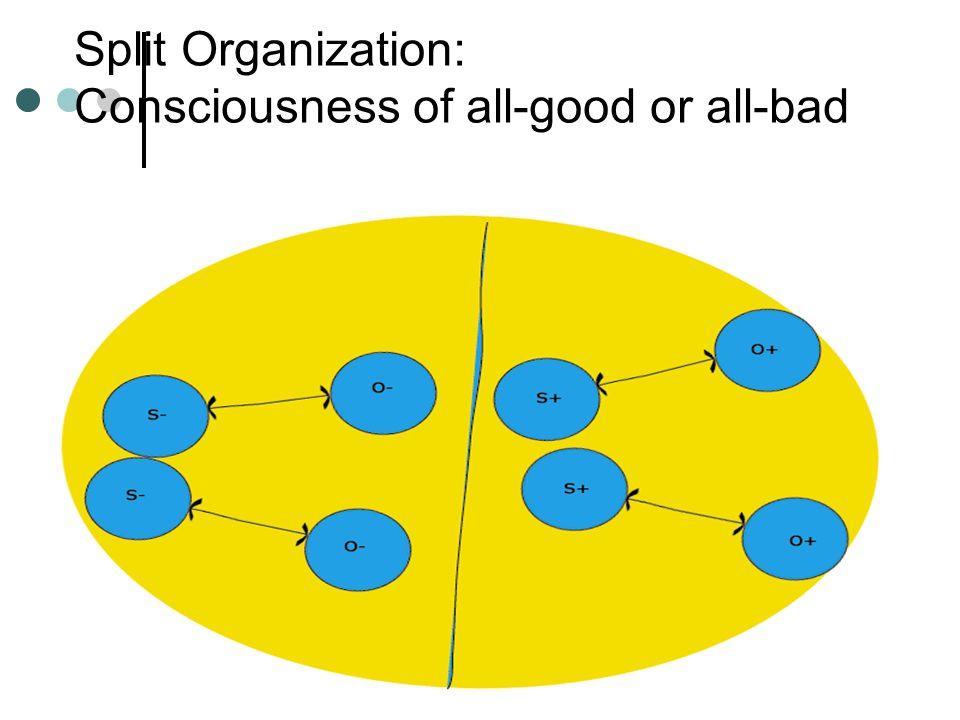 Hastanın İçsel Dünyası K = Kendilik temsili N = Nesne temsili d = Duygulanım Örnekler K1 = Silik, istismar edilmiş figür N1 = Sert otorite figürü d1 = Korku K2 = Çocuksu-bağımlı figür N2 = İdeal, verici figür d2 = Sevgi K3 = Güçlü, denetleyici figür N3 = Zayıf, köle gibi figür d3 = Hiddet.
