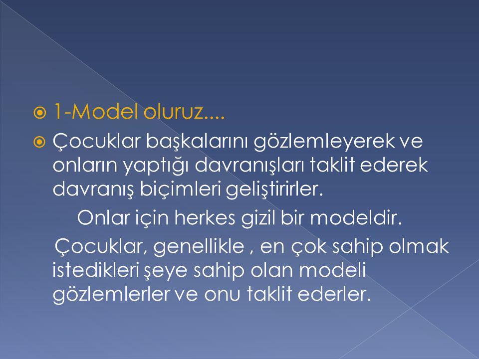  1-Model oluruz....