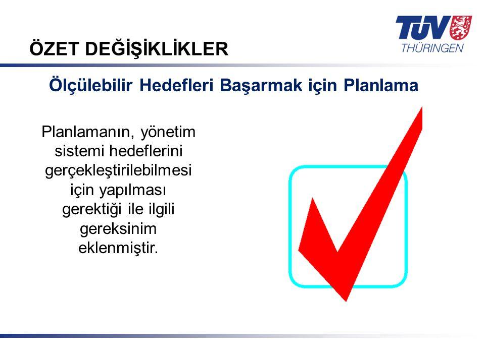 Mit Sicherheit in guten Händen! © TÜV Thüringen Anlagentechnik GmbH & Co. KG ÖZET DEĞİŞİKLİKLER Ölçülebilir Hedefleri Başarmak için Planlama Planlaman