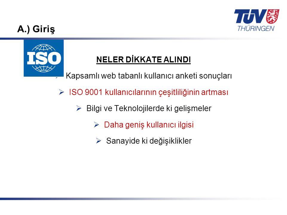 Mit Sicherheit in guten Händen! © TÜV Thüringen Anlagentechnik GmbH & Co. KG A.) Giriş NELER DİKKATE ALINDI  Kapsamlı web tabanlı kullanıcı anketi so