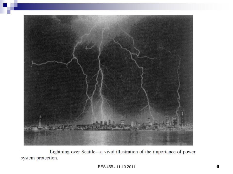 EES 455 - 11.10.201117 'Temizlenmeyen' kısa devre arızalarının olası sonuçları:  Teçhizat hasarı şiddetinin artması  Ciddi yaralanmalar  Uzun süreli kesintiler  Patlama, yangın vb.