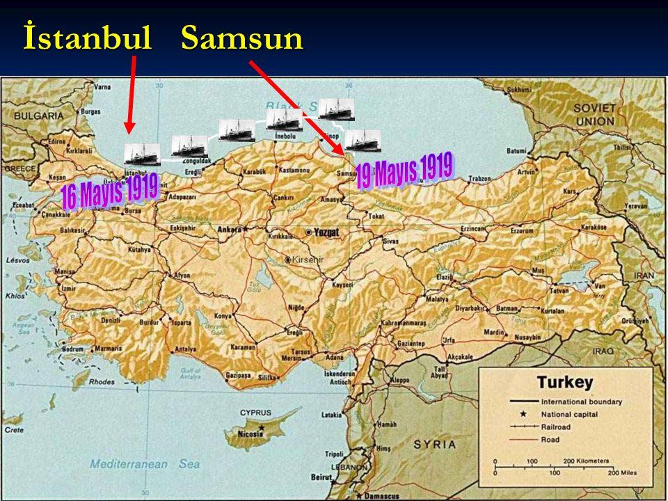 MUSTAFA KEMAL Anadolu'ya resmi bir görevle gitmek istiyordu.
