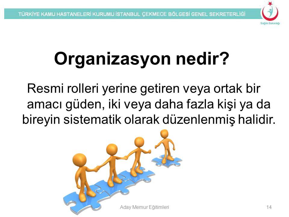 Organizasyon nedir? Resmi rolleri yerine getiren veya ortak bir amacı güden, iki veya daha fazla kişi ya da bireyin sistematik olarak düzenlenmiş hali