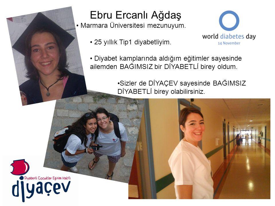 Ebru Ercanlı Ağdaş Marmara Üniversitesi mezunuyum.