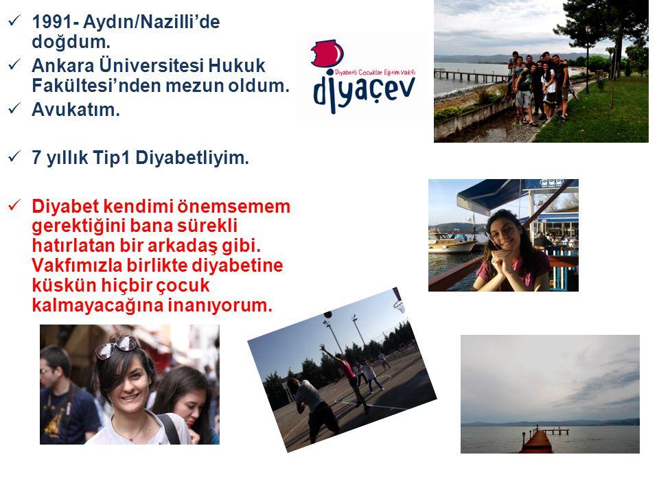 1991- Aydın/Nazilli'de doğdum. Ankara Üniversitesi Hukuk Fakültesi'nden mezun oldum.