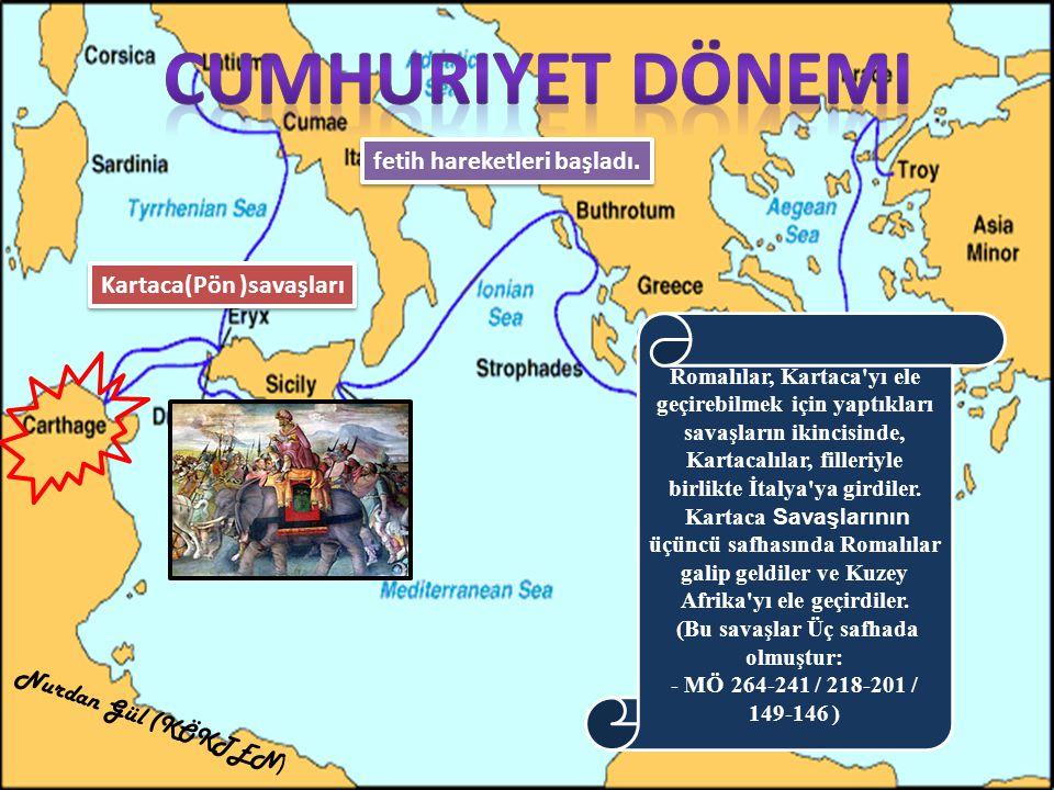 Roma topraklarına katılan yerler İspanya Yunanistan Anadolu Mısır Sezar ın öldürülmesinden sonra İmparatorluk devri başladı(MÖ.27) Nurdan Gül (KÖKTEN )