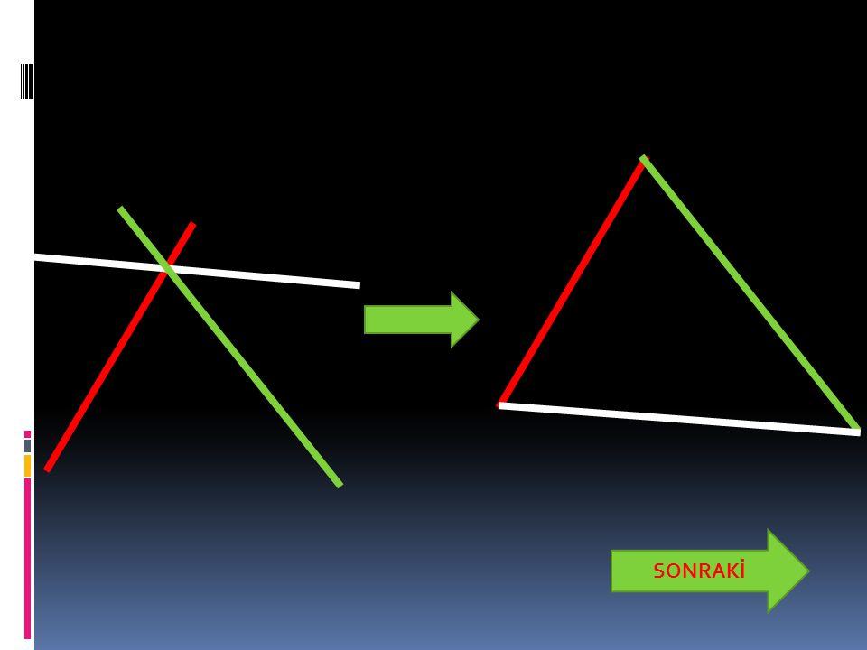 İkizkenar Üçgen  Sadece iki kenar uzunluğu eşit olan üçgenlere ikiz kenar üçgen denir.