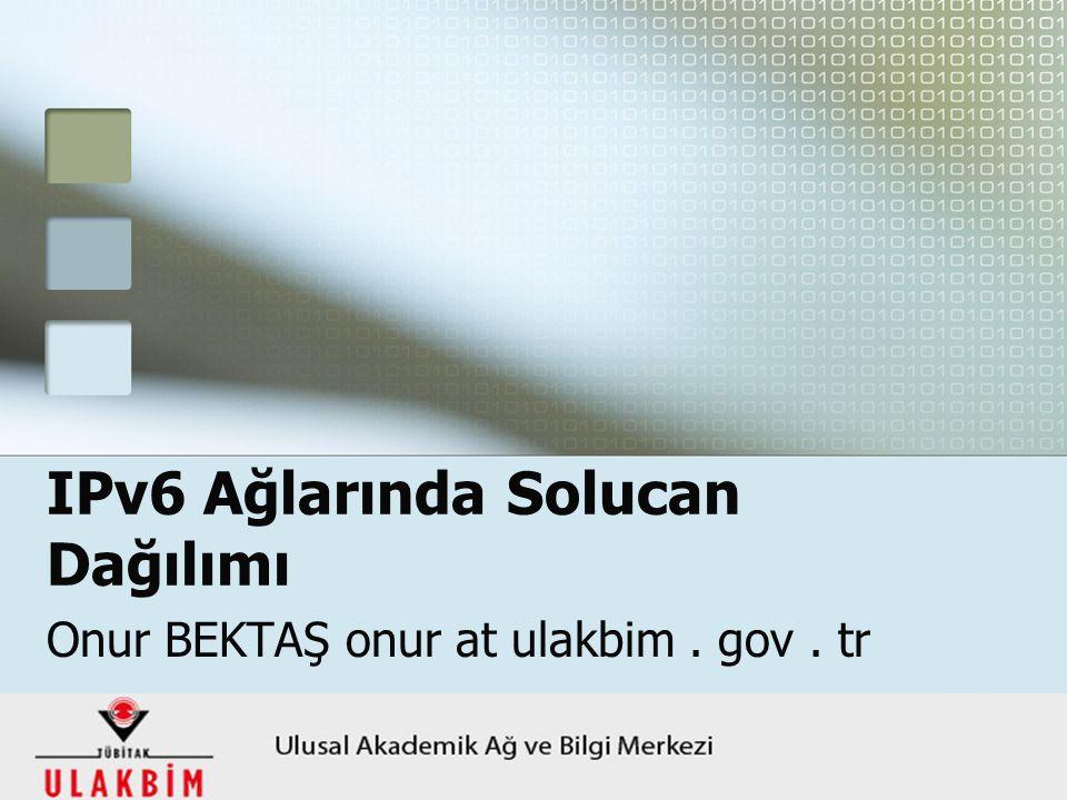 24 Ekim 2008 HABTEKUS YTÜ1 IPv6 Ağlarında Solucan Dağılımı Onur BEKTAŞ onur at ulakbim. gov. tr