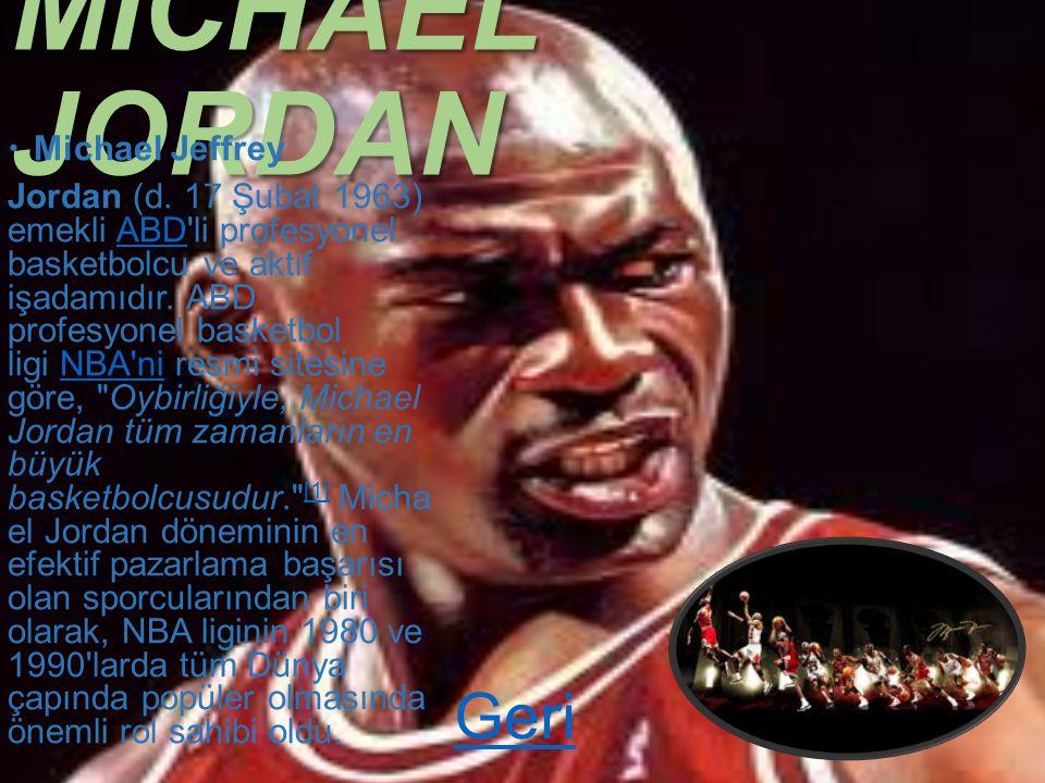 Michael Jordan ve Basketbol Aşkı Michael Jordan Ve Baetskbol Aşkı GERİ