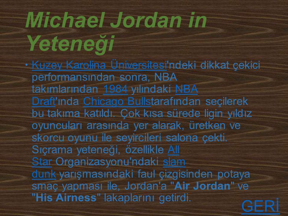 İnanılmaz Michael Jordan GERİ