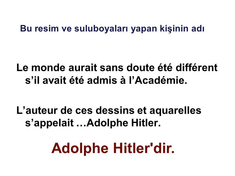 Le monde aurait sans doute été différent s'il avait été admis à l'Académie. L'auteur de ces dessins et aquarelles s'appelait …Adolphe Hitler. Bu resim