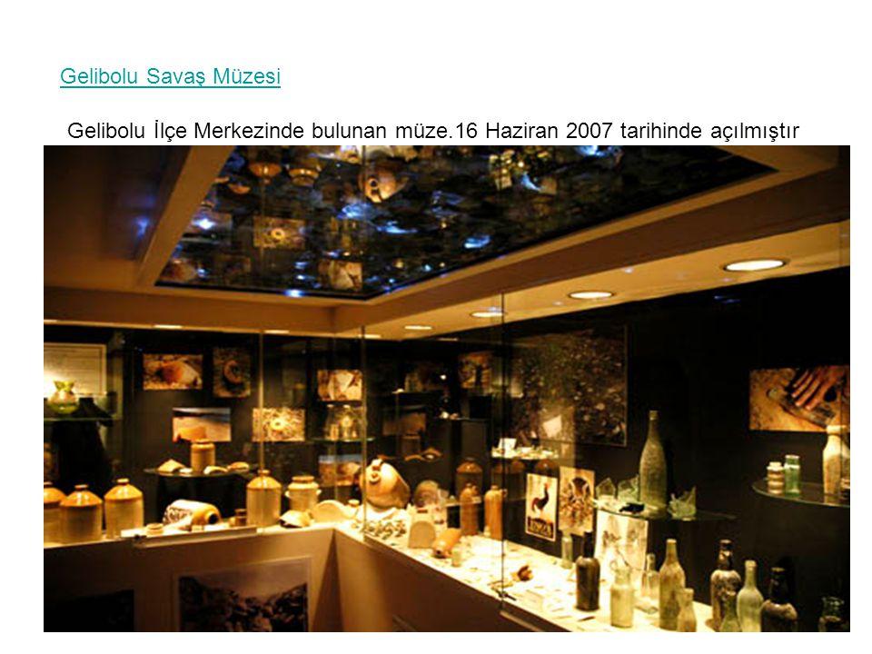 Gelibolu Savaş Müzesi Gelibolu İlçe Merkezinde bulunan müze.16 Haziran 2007 tarihinde açılmıştır