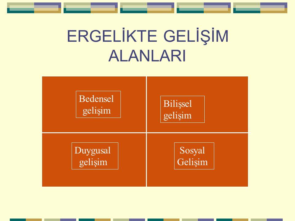 ERGELİKTE GELİŞİM ALANLARI Bedensel gelişim Duygusal gelişim Bilişsel gelişim Sosyal Gelişim