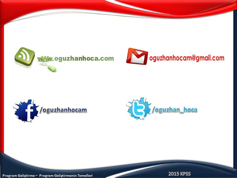 Program Geliştirme – Program Geliştirmenin Temelleri www.oguzhanhoca.com Comenius : Okul öncesinden lise son sınıfa kadar olan genel eğitimi kapsar.