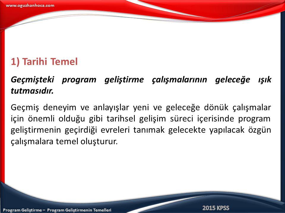 Program Geliştirme – Program Geliştirmenin Temelleri www.oguzhanhoca.com CEVAP: B