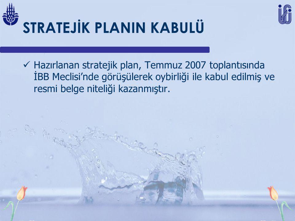 STRATEJİK PLANIN KABULÜ Hazırlanan stratejik plan, Temmuz 2007 toplantısında İBB Meclisi'nde görüşülerek oybirliği ile kabul edilmiş ve resmi belge niteliği kazanmıştır.