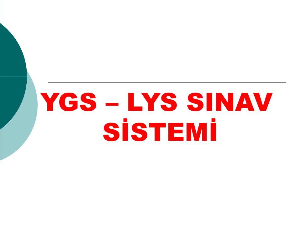22 Haziran 2013 Cumartesi günü yapılacak olan LYS-2 sabah saat 10.00 da başlayacak, tek oturumda uygulanacak ve toplam 135 dakika sürecektir.