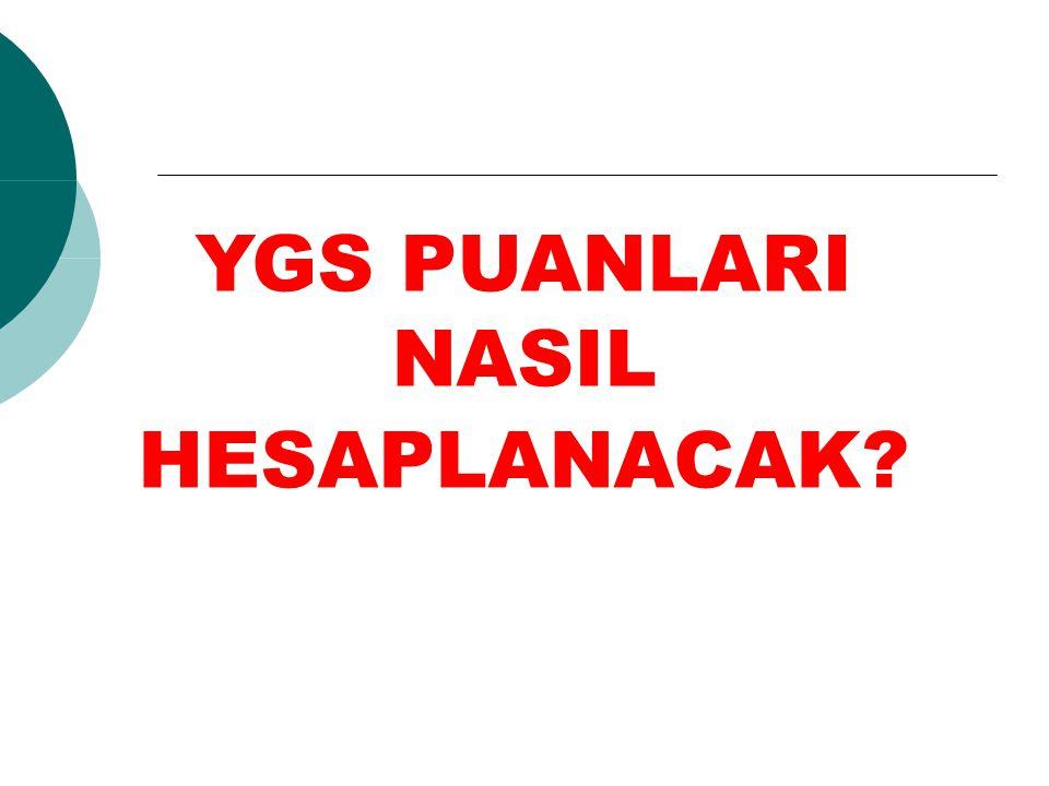 YGS PUANININ LYS PUANLARINA KATKISI NE KADAR YGS'deki testlerin LYS puan türlerinin hesaplanmasına etkisi en fazla %40 (*160 puan) olmaktadır.