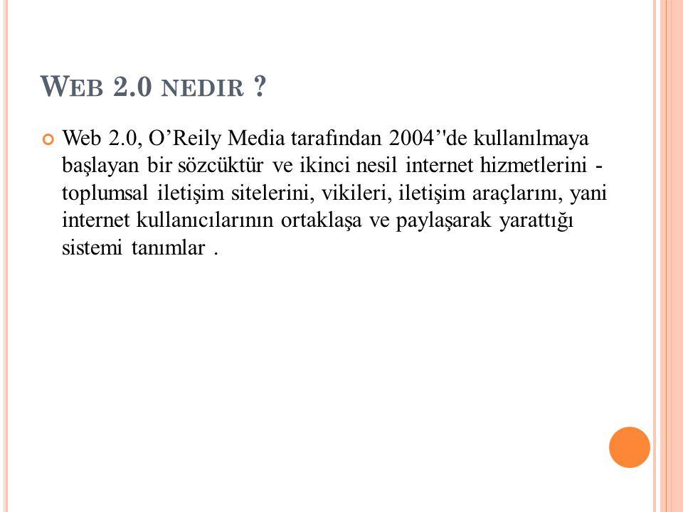 W EB 2.0 NEDIR .