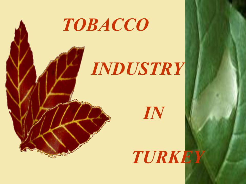 TOBACCO INDUSTRY IN TURKEY Bu sunu sırasında, dinleyicilerin de katılımıyla, yapılması gereken işlemlerin ortaya çıkacağı konuşmalar olacaktır. Bu işl