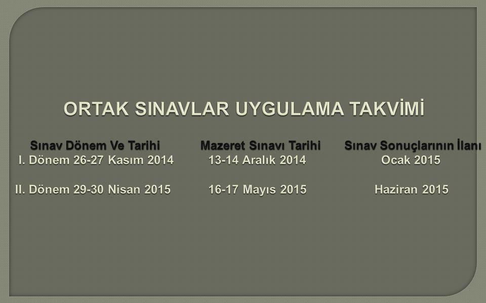 Ortaokulların 8'inci sınıflarında Türkçe, matematik, fen ve teknoloji, din kültürü ve ahlak bilgisi, T.C.