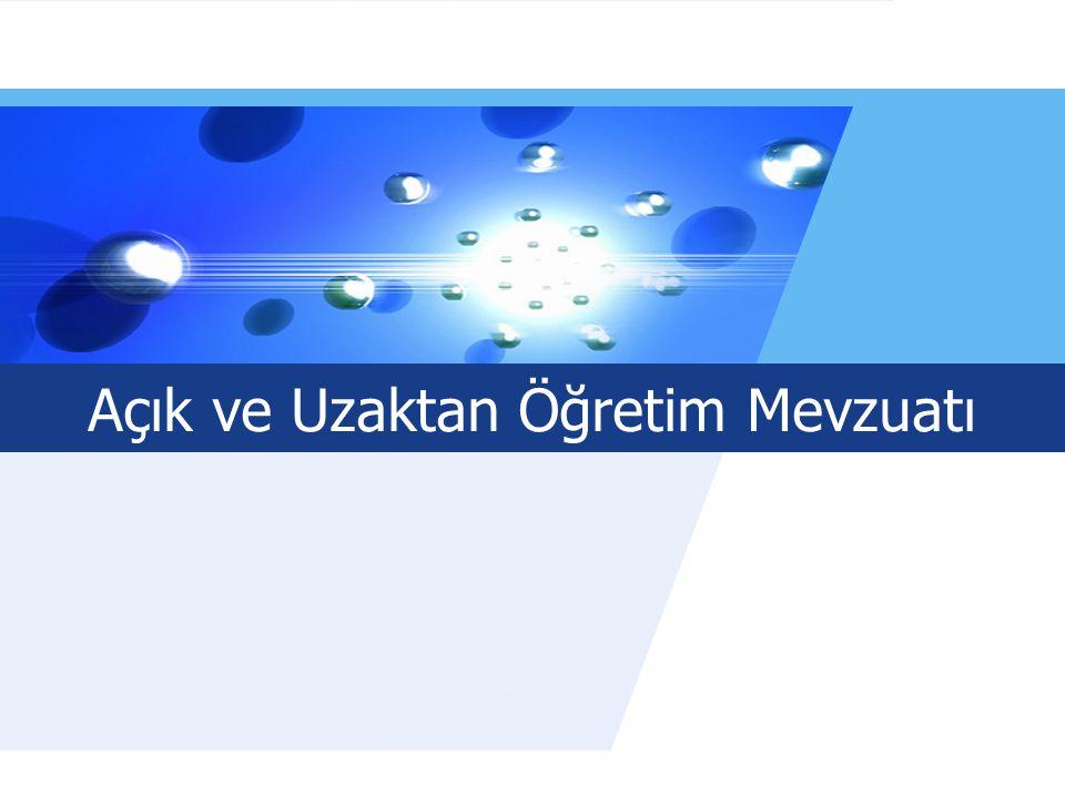 LOGO Açık ve Uzaktan Öğretim Mevzuatı www.auzef.İstanbul.edu.tr